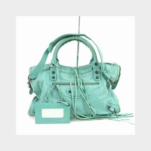 Balenciaga Blue-Green City 2way 871085